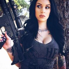 Girls And Guns Photos) - Hot Penguin Girls In Love, Girls 4, Pinup, Self Defense Women, Military Women, Military Army, Bikini, Sexy Women, Firearms