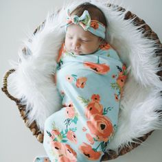 Hey, I found this really awesome Etsy listing at https://www.etsy.com/ca/listing/294401573/coral-poppy-swaddle-blanket-and-headband