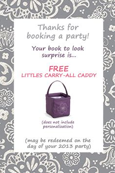 Book-to-look gifts for Thirty-One parties! #thirtyone #thirtyonegifts