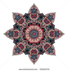 Decorative vintage vector ornament. Ornate colorful mandala. indian oriental doodle design.