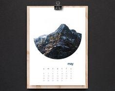 2018 desk calendar of mountain and mist, Christmas gift idea, 5x7, nature, decor travel, hike adventure, coworker gift, minimalism landscape