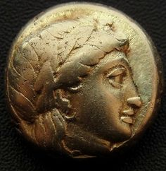 Persephone & Dionysos Lesbos Mytilene  are Greek Gold Coin EL worth over $2.000