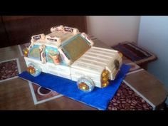 ▶ Sweets Car - Videotutorial step by step - Машина из конфет - YouTube