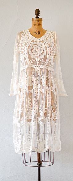 vintage inspired romantic white lace panels dress | Private Paradise Dress #lacedress #vintageinspired