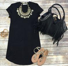 Where I'm Going Tunic Dress: Black