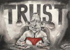 Trust Me, David Rowe, Financial Review | Political Cartoons Australia