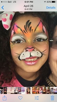 Face Painting Designs, Body Painting, Easter Face Paint, Animal Makeup, Kids Makeup, Make Up Art, Maquillage Halloween, Cat Face, Costume Makeup