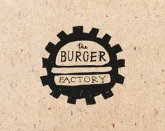 The Burger Factory. Sweet use of negative space in this #logo! #branding #design