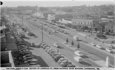 Lonsdale St Dandenong from National Bank Building mid to late Banks Building, Melbourne Victoria, Historical Images, The Old Days, Tasmania, Vintage Photographs, Old Photos, 1940s, Postcards