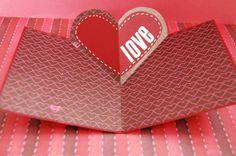 DIY pop-up Valentine