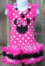 Petti Dress Deluxe Minnie Mouse Inspired Hot Pink