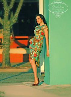 Tiki Wiggle Dress,  Dress, Tiki  rockabilly  pin up  vintage, Casual