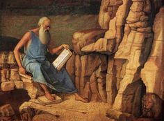 Artwork of the week: Giovanni Bellini's Saint Jerome Reading in a Landscape. Did you know that Saint Jerome is patron saint of translators?