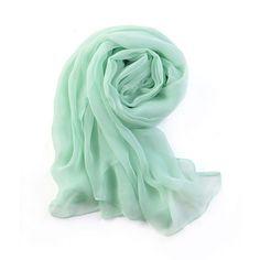 Mint Green Chiffon Scarf  Pale Green Chiffon Scarf by RobePlus, $11.99