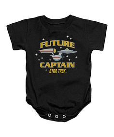 Look at this #zulilyfind! Black 'Future Captain' Bodysuit - Infant by STAR TREK #zulilyfinds