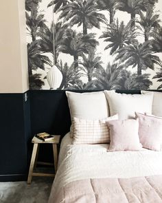 [New] The 10 Best Home Decor (with Pictures) - Our bone china Fin pendant pops against this fabulous monochrome wallpaper by and paint by in a project by . Decor Interior Design, Furniture Design, Interior Decorating, Bedroom Furniture, Bedroom Decor, Parents Room, Bedroom Inspo, Home Accents, Interior Inspiration