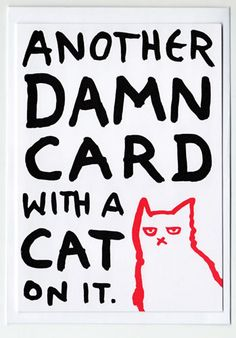 Another Damn Cat Card  greetings card funny door HileyRemarkable, £2.50