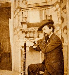 """Claude Debussy A brilliant composer and the inventor of musical impressionism. """"Music begins where the words end"""" - Debussy leaning on his bass clarinet in Pierre Louÿs' home, Paris, 1894 -by Pierre Louÿs Sound Of Music, Kinds Of Music, Music Love, Music Is Life, Bass Clarinet, Saxophone, Cello, Classical Music Composers, Piano"""