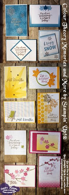 Colour Theory : To see more Card Ideas using Stampin' Up! products visit Sandra Mastello in Australia at https://stampinsandra.blogspot.com