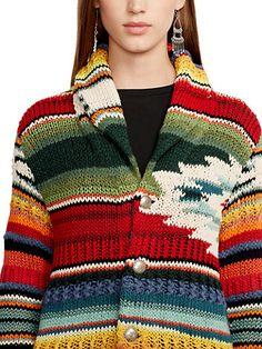 Hand-Knit Serape Cardigan - Cardigans  Sweaters - RalphLauren.com
