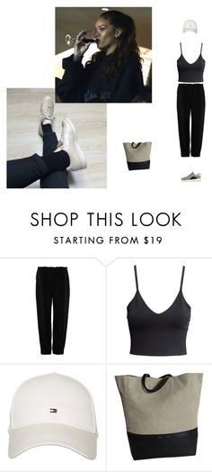 """""""brb"""" by tina-gadze ❤ liked on Polyvore featuring STELLA McCARTNEY, H&M, Tommy Hilfiger and adidas"""