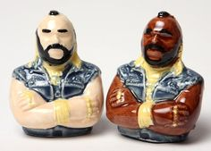 Mr T Salt Pepper shakers