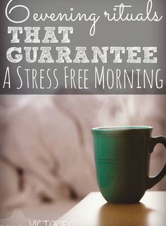 Do you want stress free life? These 6 simple evening rituals transformed my morning routine and dramatically reduced my stress as working mom. A completely awesome read.