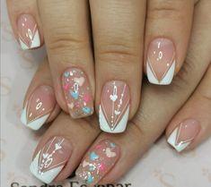 Valentine Nail Art, Valentines, Short Nails, Wedding Nails, Nail Art Designs, Hair Beauty, Makeup, Instagram, Nail Ideas