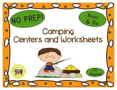 LOOK WHAT'S BEEN ADDED  Camping Word Search, Graphing, Coloring, AND 8 thematic worksheets.