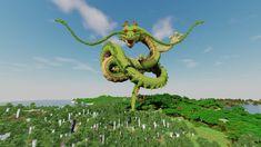 Le dragon Shenron de Dragon ball dans Minecraft Images Minecraft, Minecraft Designs, Minecraft Ideas, Minecraft Statues, Chinese Dragon, Halloween Projects, Dbz, Dragon Ball, Tokyo