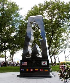 Korean War Veterans Memorial~ My uncle served there. He was a sharp shooter defending his patrol.