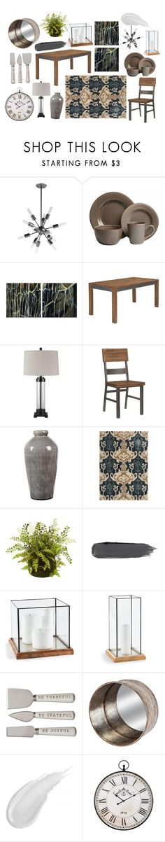 """Harlynx Dining Room"" by ashleyhomestore on Polyvore featuring interior, interiors, interior design, home, home decor, interior decorating and dining room"