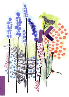 Abstracted Woodland by http://natalieratcliffe.com