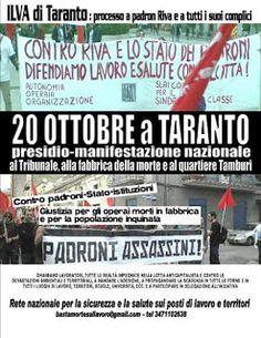 """TARAStv: """"PROCESSO ILVA"""" IL 20 OTTOBRE IL PRESIDIO-MANIFEST..."""
