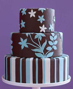 azul celeste y chocolate muy elegantes