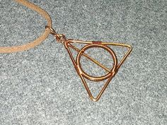 Deathly Hallows pendants in the story Harry Potter - How to make wire jewelery 175 - YouTube