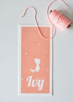 Lief: het geboortekaartje van Ivy - Speciale geboortekaartjes - Lief Leuk & Eigen
