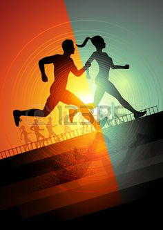 Group Of Runners, Men And Women Running To Keep Fit Vector Illustration Royalty Free Cliparts, Vectors, And Stock Illustration. Image 28416323.