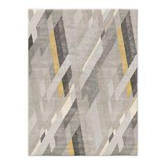 Abstract Ribbons Wool Rug