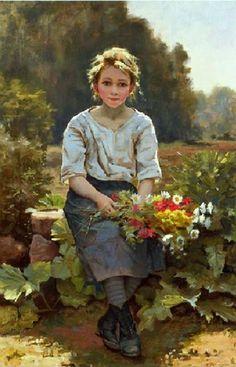 Pattein, Cesar (b,1850)- Flower Girl -2b