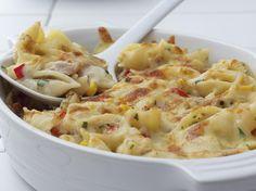 Tuna and Pasta Bake, Comfort Food Recipes - iVillage Baked Pasta Recipes, Easy Casserole Recipes, Seafood Recipes, Cooking Recipes, Healthy Recipes, Tuna Casserole, Noodle Casserole, Casserole Dishes, Macaroni Recipes