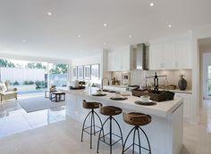 House Design: Waldorf - Porter Davis Homes Open Plan Kitchen Living Room, Kitchen Dining Living, Home Decor Kitchen, Kitchen Interior, New Kitchen, Kitchen Design, Kitchen Ideas, Kitchen Island, Luxury Kitchens