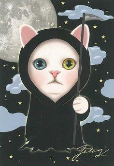 Jetoy Choo choo cat postcard - Night 6 by PCmarja2006