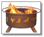 Patina Products F109 30 Inch Western Cowboy Fire Pit