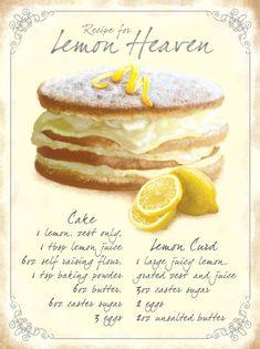 Lemon Desserts, Lemon Recipes, Just Desserts, Baking Recipes, Cake Recipes, Dessert Recipes, Food Cakes, Cupcake Cakes, Cupcakes