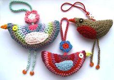 DIY crochet stuffs: Crochet Birdie