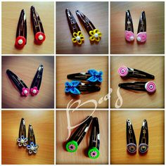 Quilled hairclips