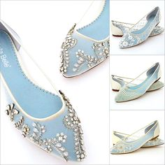 Those elusive flat bridal shoes are no longer.  Your search ends here.  Whether your searching for lace, sparking crystals, classic to vintage styles, you'll discover an assortment of flats and low heels at Perfect Details that might just be what your heart desires.
