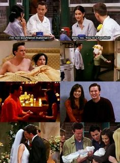 Monica and Chandler throughout the years. So sweet!