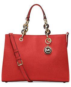 a116f30bc69e MICHAEL Michael Kors Handbag, Cynthia Medium Satchel - All Handbags -  Handbags & Accessories - Macy's